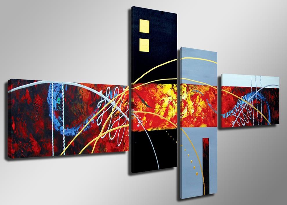 Cuadro abstracto en cinco partes